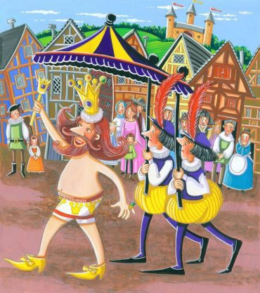 Fairy Tale Painting - Emperors New Clothes by Ilene Richard